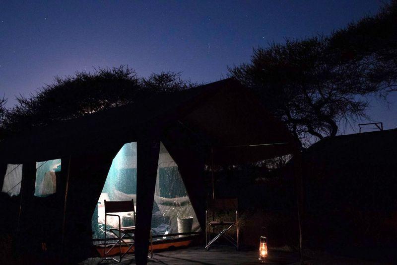 Safari Lodge solar powered camp facilities