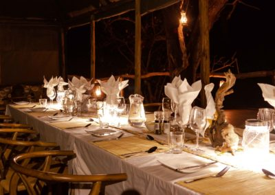 Set dining table in O Bona Moremi Safari Lodge