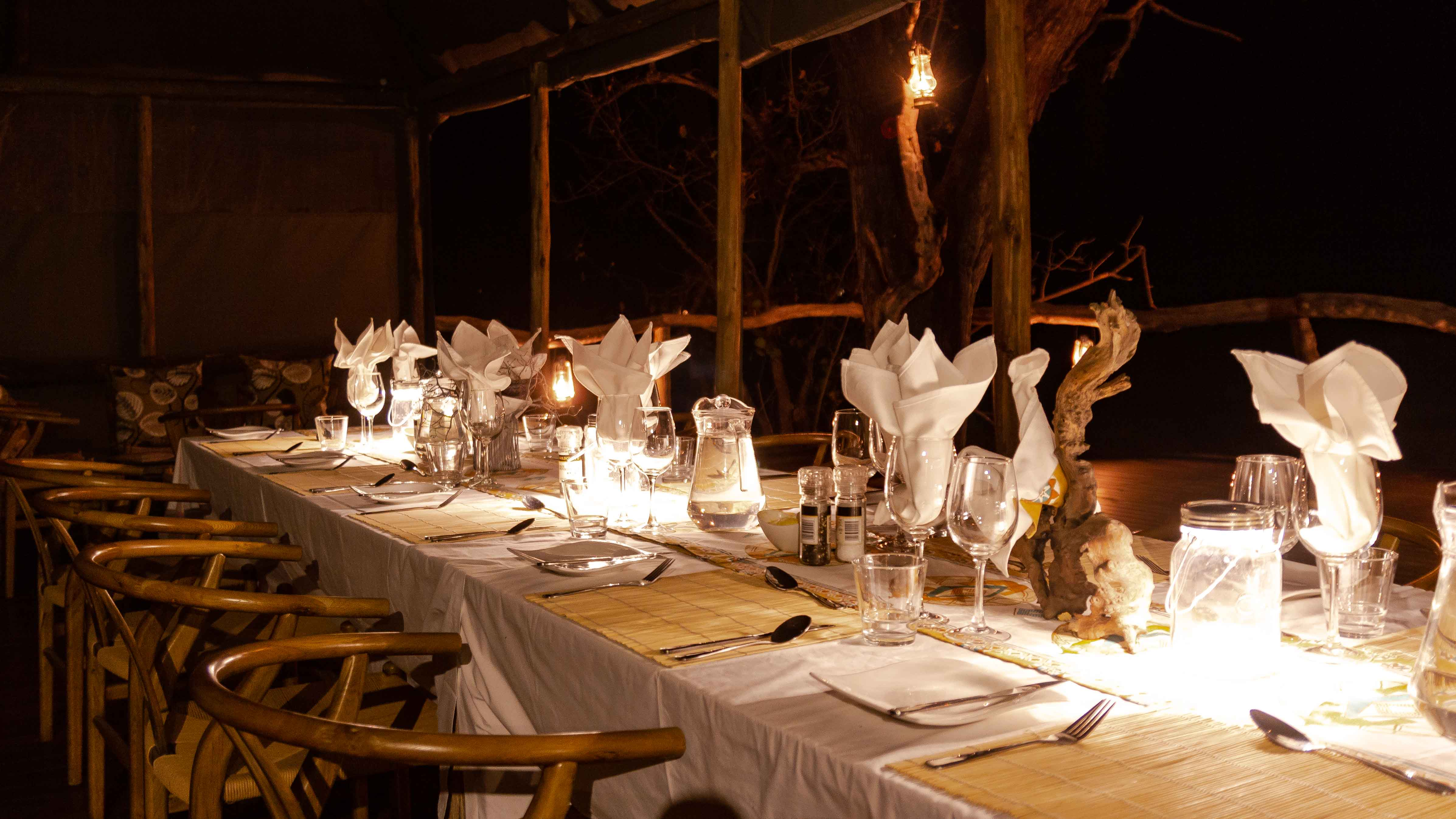 "Beautiful Dining Area in the Okavango Delta Lodge ""O Bona Moremi"""